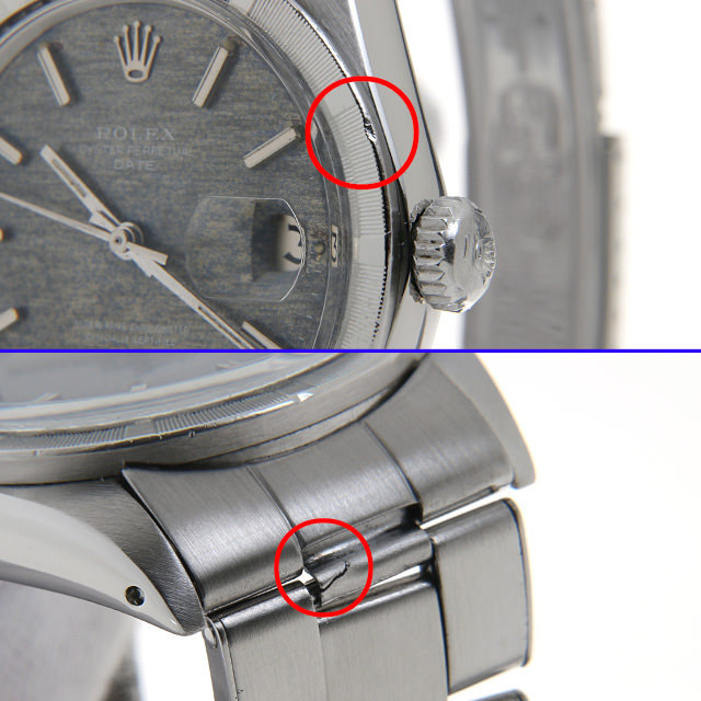 高級時計 打痕 凹み