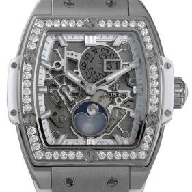 スピリット オブ ビッグバン ムーンフェイズ チタニウム ホワイト ダイヤモンド 647.NE.2070.RW.1204