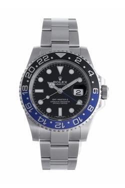 ロレックス GMTマスターⅡ 黒青ベゼル 116710BLNR