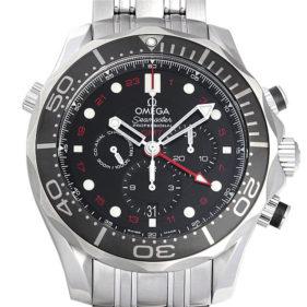 オメガ シーマスター300 コーアクシャル GMT クロノグラフ212.30.44.52.01.001